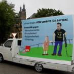 Protestplakat vor Kloster Banz